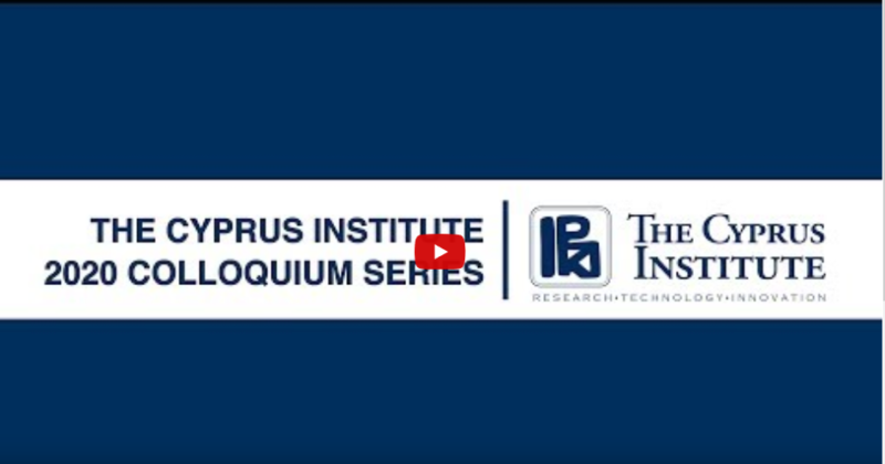 Prof. Spyros Pandis, 30 January 2020, The Cyprus Institute Colloquium Series