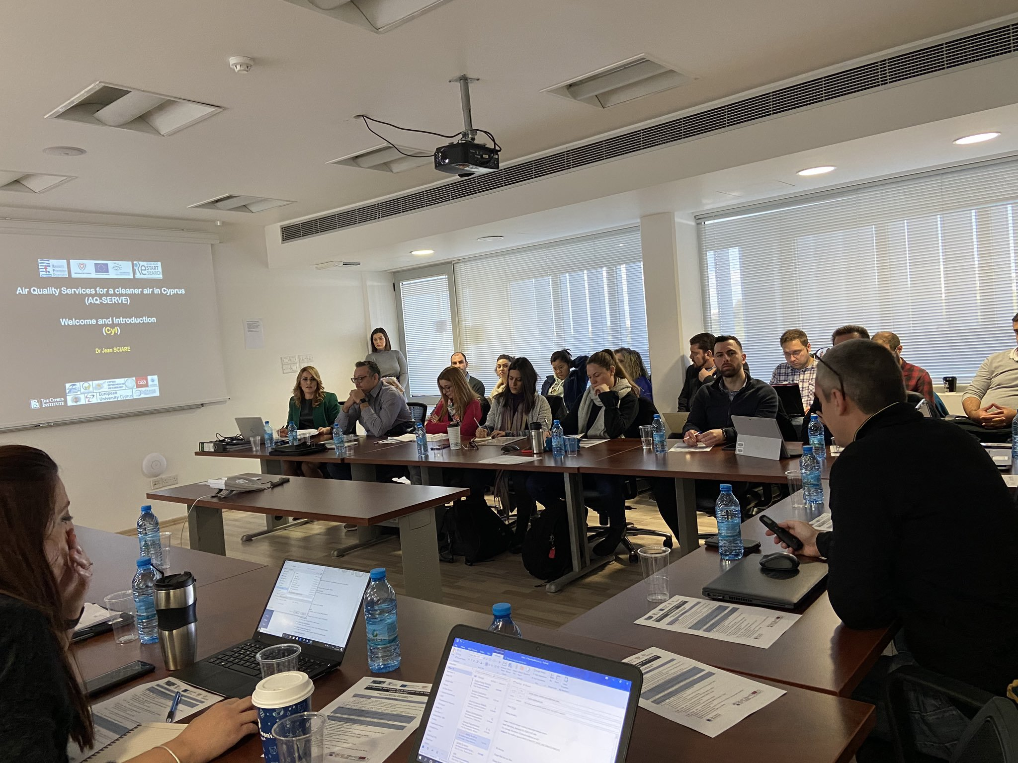 """2nd Partner's Meeting of """"Air quality services for a cleaner air in Cyprus -AQ-SERVE"""" Project"""