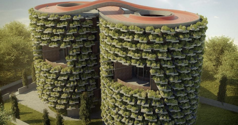 Inside the innovative eco-school designed to remove air pollution